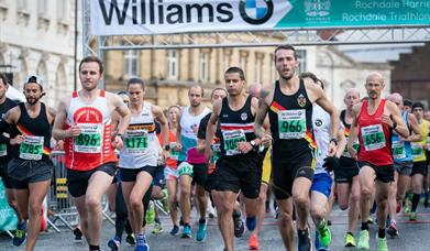 Competitors in the Williams BMW Half Marathon.