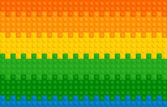 A colourful Lego mat.