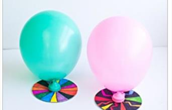 2 completed balloon hovercrafts