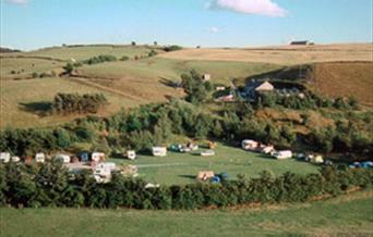 View of Hollingworth Lake Caravan Park.