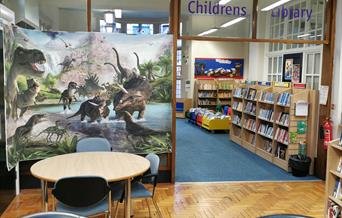 The children's section in Heywood Library.