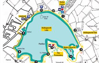 A map of the Hollingworth Lake Circular Trail