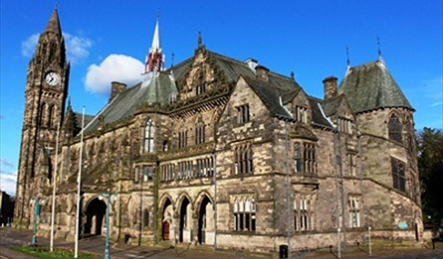 Exterior of Rochdale Town Hall.